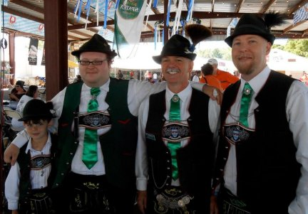 Some of our boys at the 2012 Choctaw Oktoberfest